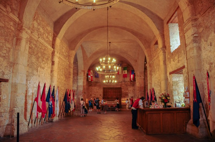 Inside the Alamo mission